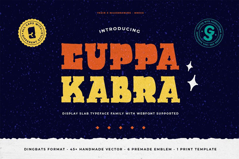 cuppakabra typeface mexican font