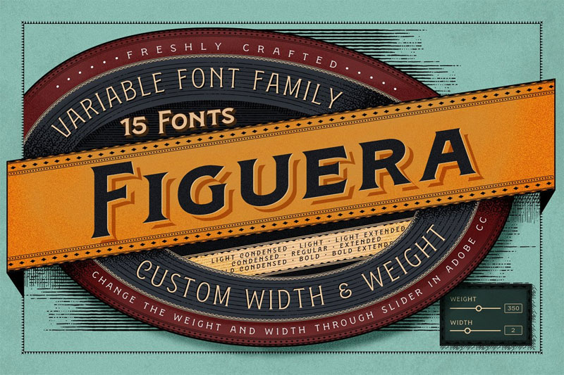 figuera variable 70s font