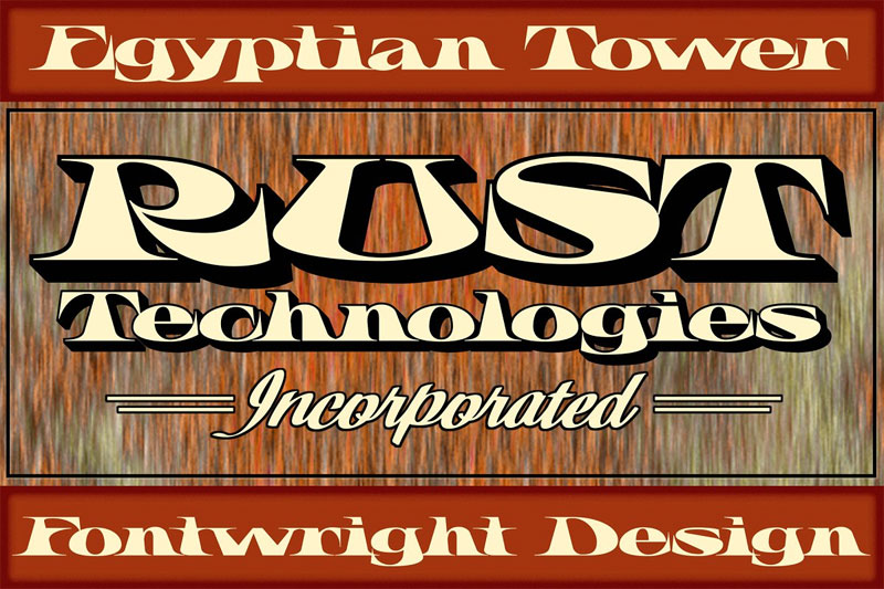 fwd egyptian tower egyptian font