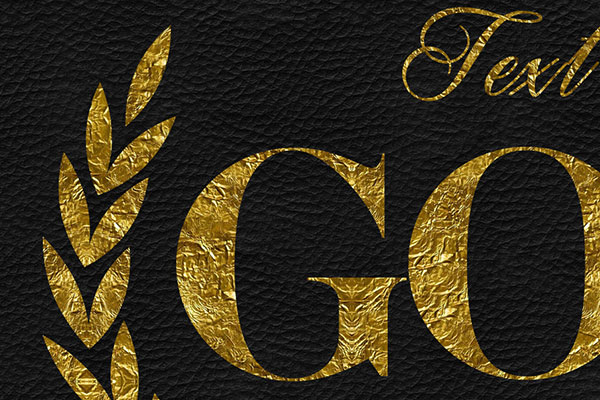 Gold Text Effect Vol.15
