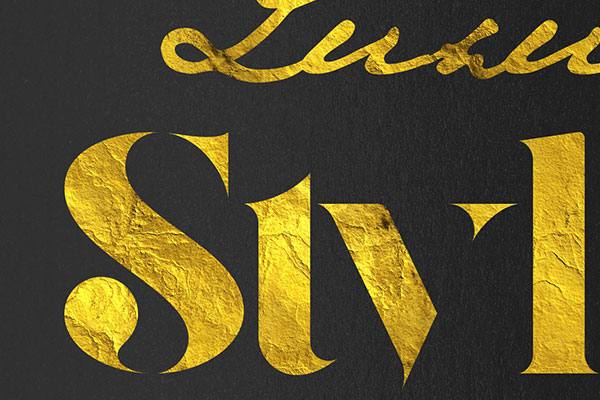 Gold Text Effect Vol.18
