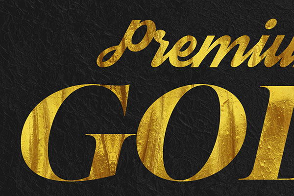 Gold Text Effect Vol.30