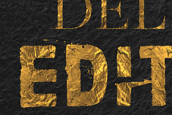 Gold Text Effect Vol.5