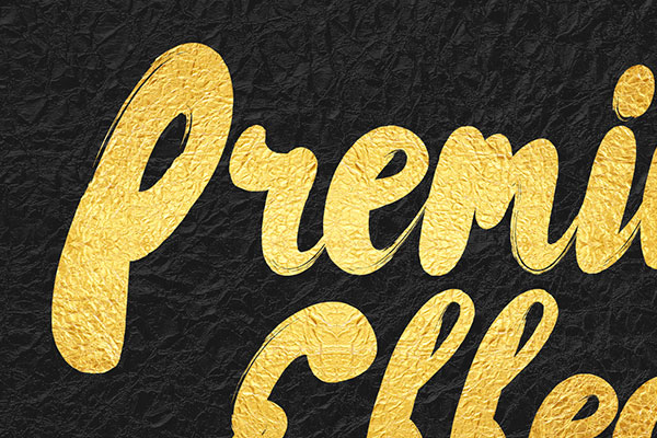 Gold Text Effect Vol.7
