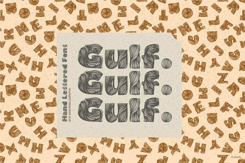 gulf handlettered african font