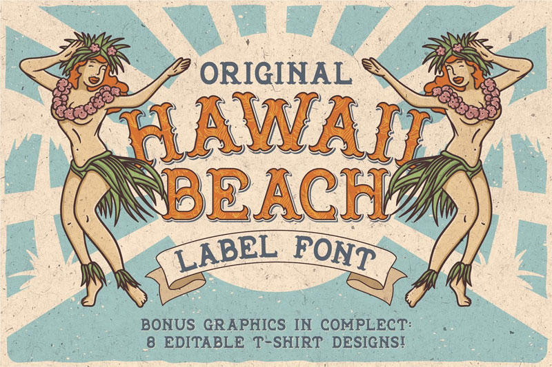 hawaii beach hawaiian font