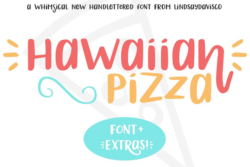 hawaiian pizza hawaiian font