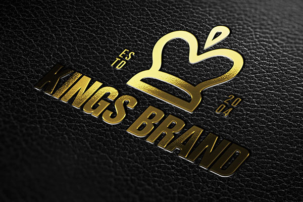 Leather Pressed Gold Logo Mockup
