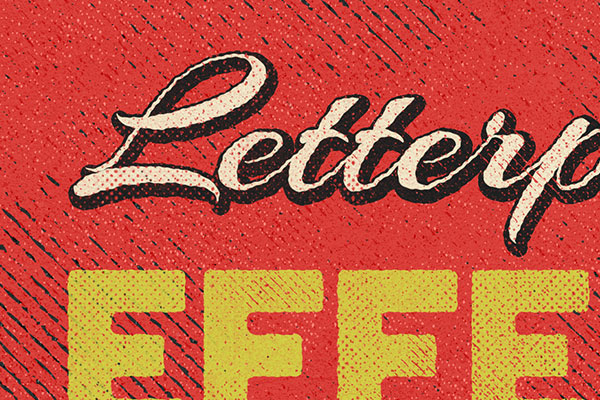 Letterpress Text Effect Vol.11