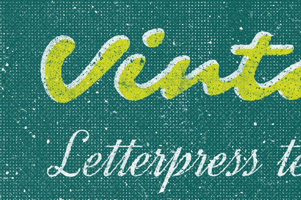 Letterpress Text Effect Vol.18