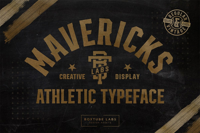 mavericks baseball font