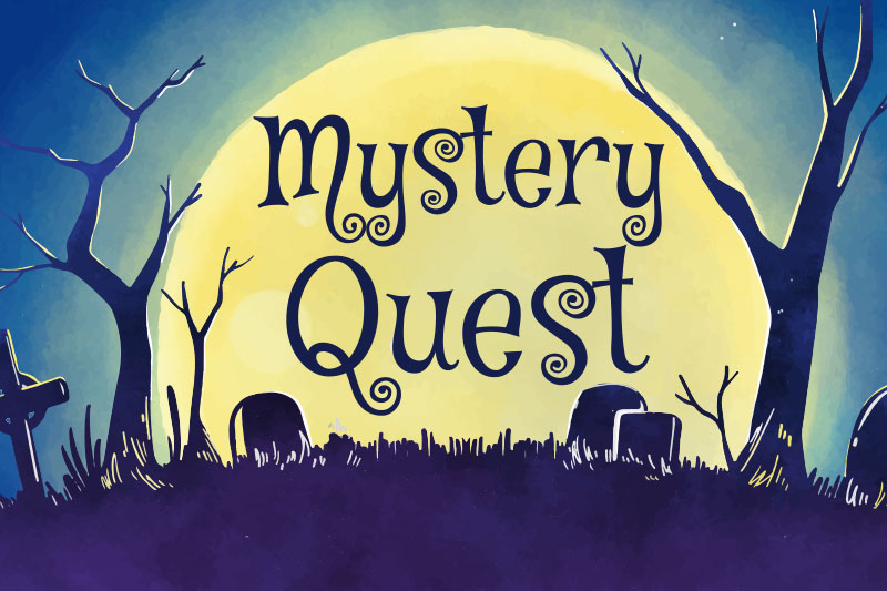 mystery quest creepy spooky font