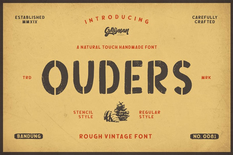 ouders african font