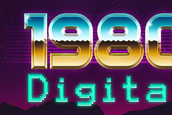 Retro 80s Text Style Download Text Effect