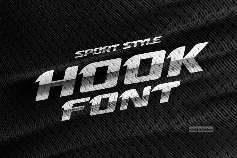 sport style racing font