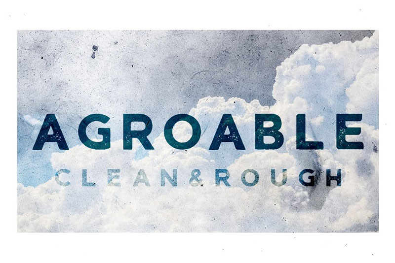 agroable clean & rough distressed font