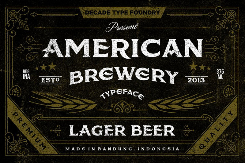 american brewery clean & rough distressed font
