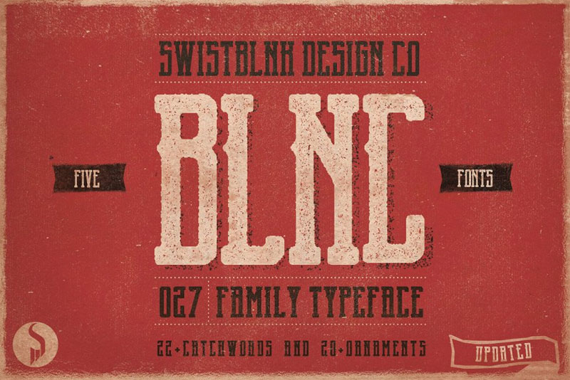 blnc family typeface distressed font