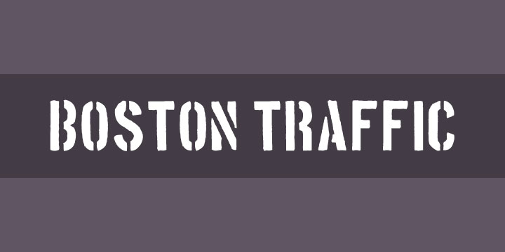 boston traffic industrial font