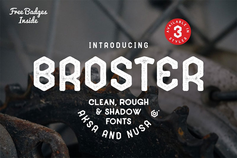 broster distressed font