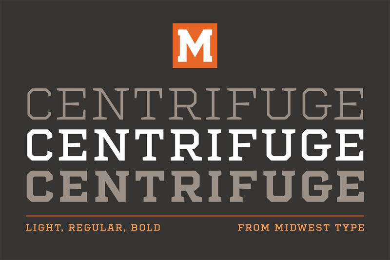 centrifuge family industrial font