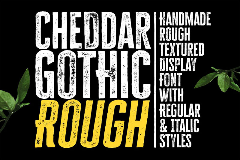 cheddar gothic rough distressed font