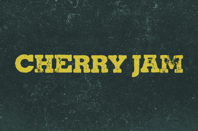 cherry jam distressed font