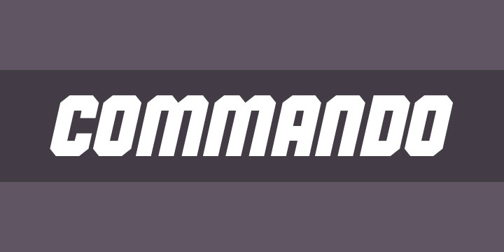 commando industrial font