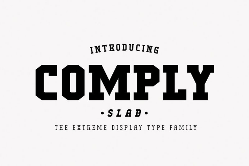comply slab industrial font