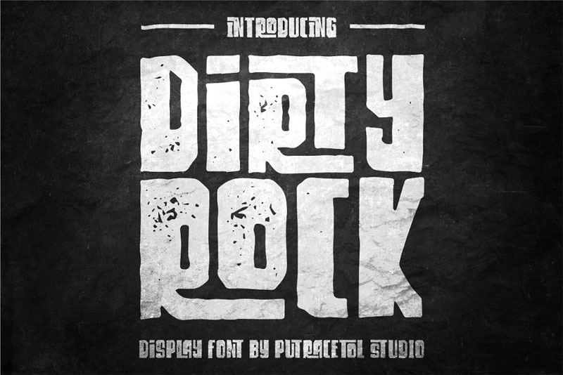 dirty rock typeface distressed font