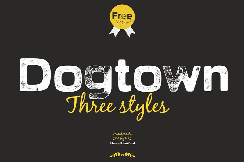 dogtown sans serif headline distressed font