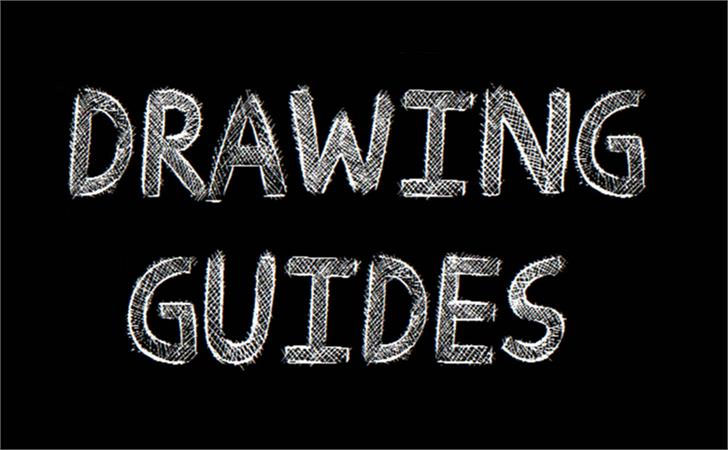 drawing guides chalkboard font