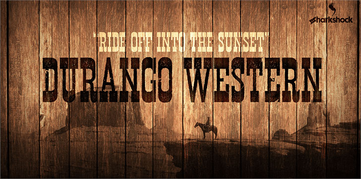 durango western eroded distressed font