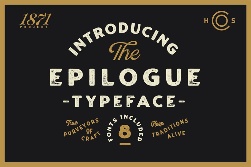 epilogue a vintage typeface distressed font