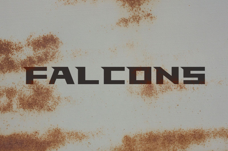 falcons industrial font