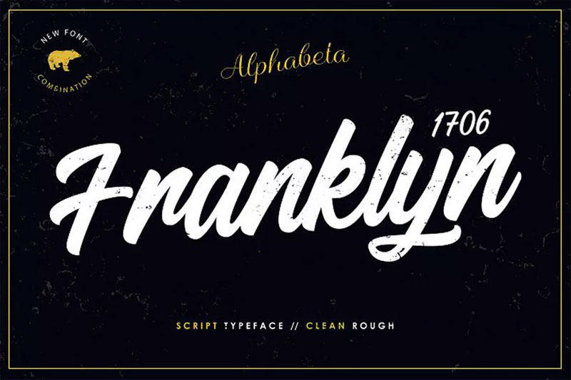 franklyn 1706 70s font