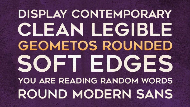 geometos rounded geometric font