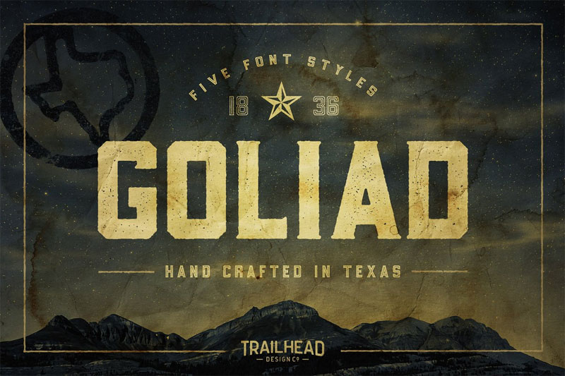 goliad distressed font