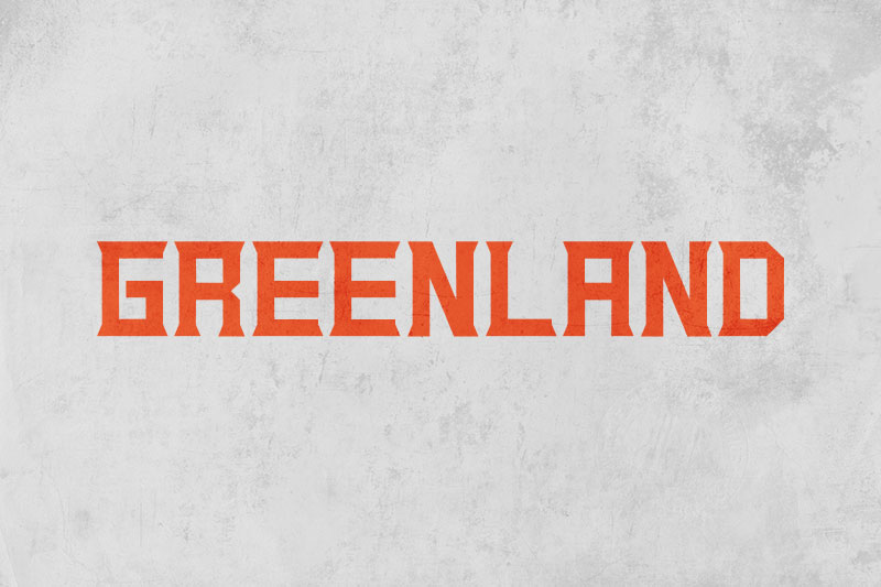 greenland 70s font