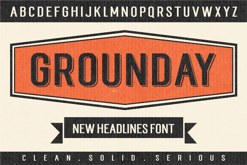 grounday industrial font