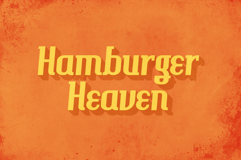 Hamburger Heaven 70s Font
