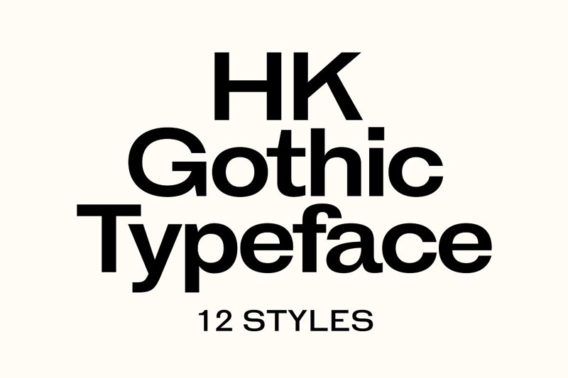 hk gothic industrial font