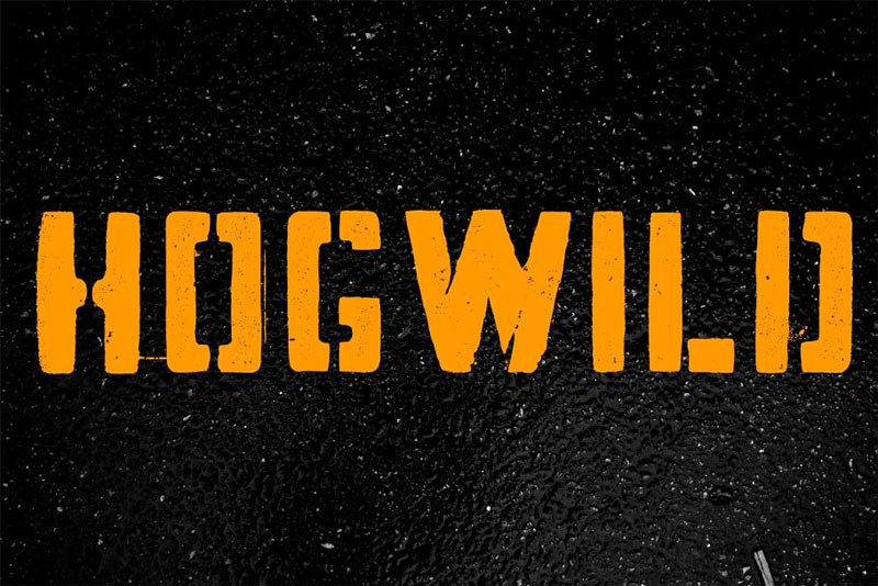 hogwild distressed font