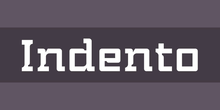 indento industrial font