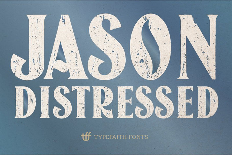 jason caps distressed distressed font