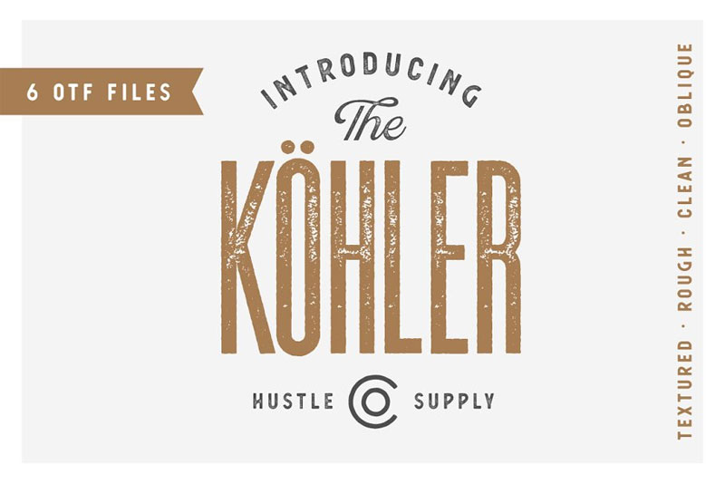 köhler distressed font