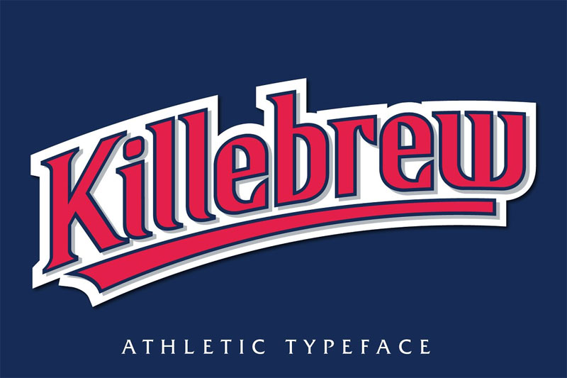 killebrew typeface baseball font