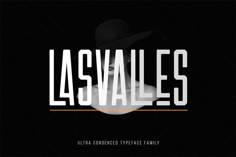 las valles ultra condensed typeface african font