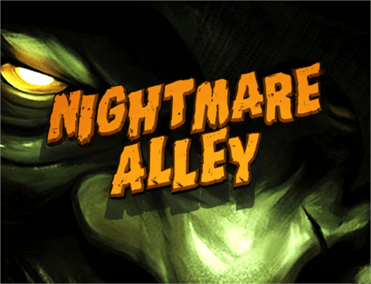 nightmare alley distressed font