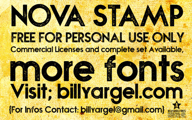 nova stamp distressed font